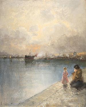 Partenza dal molo di Genova - 1905