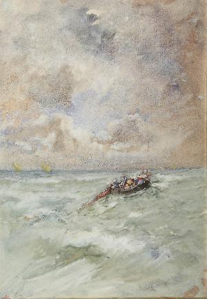 Pescatori che tirano le reti