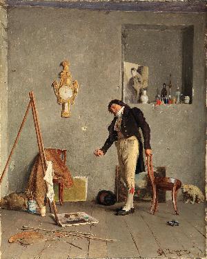 Il pittore insoddisfatto - 1873