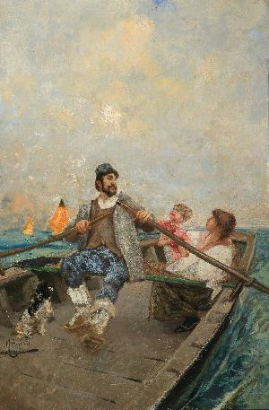 Famiglia in barca