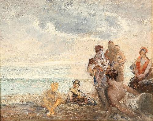 Bagnanti a Bordighera - 1912