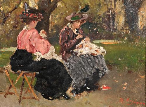Cucitrici a Parc Monceau, Parigi