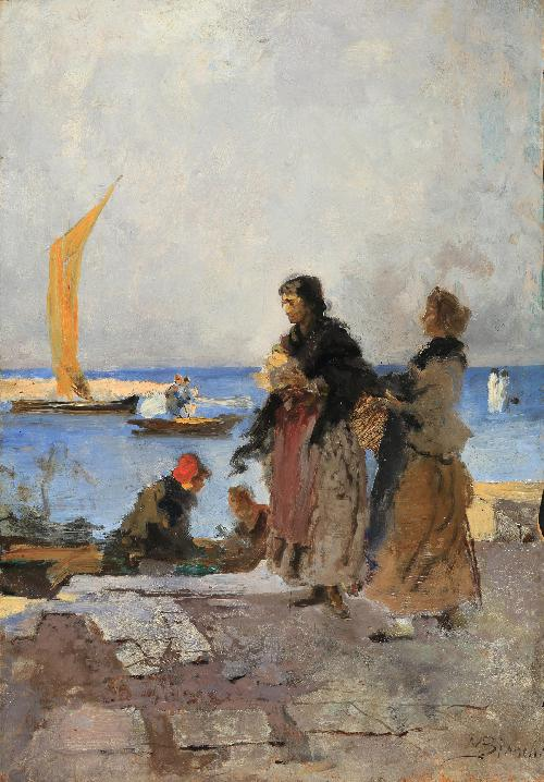 Sul molo di Chioggia
