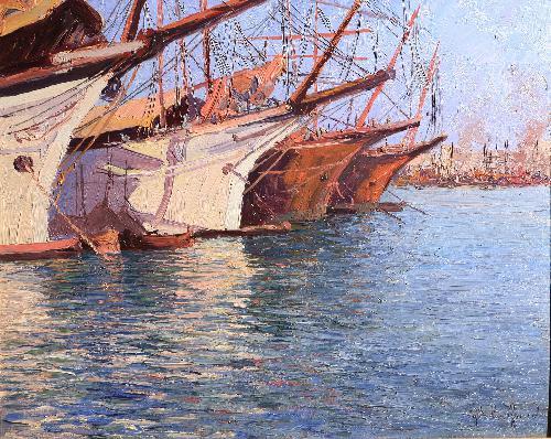Barche nel porto di Genova