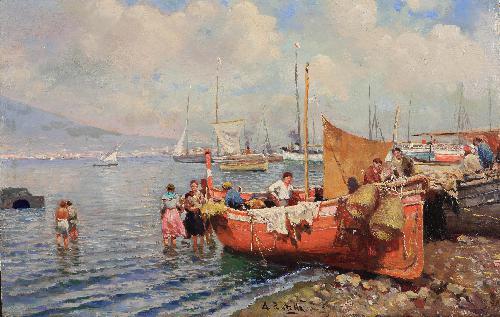 Barche di pescatori, Napoli