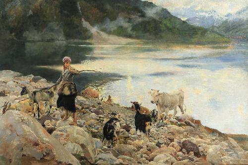 Il lago di Alleghe - 1893
