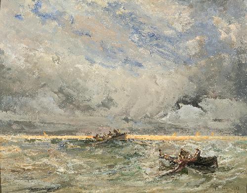 Pescatori a Bordighera - 1917