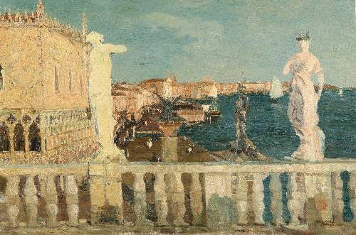 Piazza San Marco dal Palazzo del Doge, Venezia - 1918